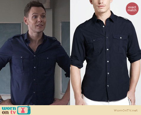 Fashion of Community: Burberry Brit Military Shirt worn by Joel McHale