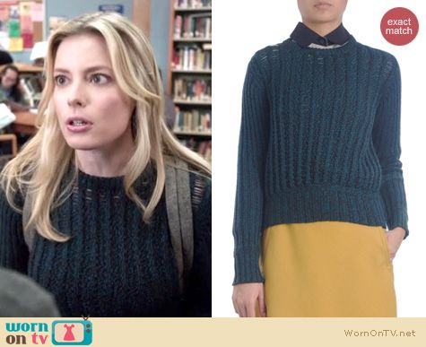 Community Fashion: Carven ribbed sweater worn by Gillian Jacobs