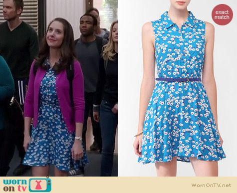 Community Fashion: Forever 21 floral collar dress worn by Alison Brie