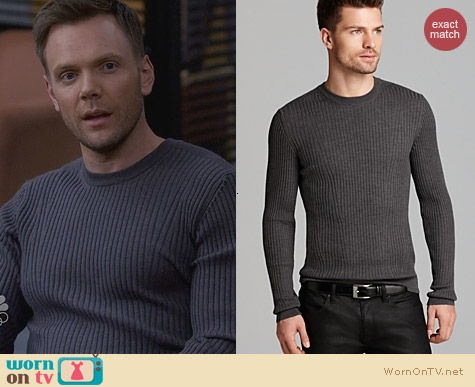 Fashion of Community: Hugo Boss Smudon Slim Rib Sweater worn by Joel McHale