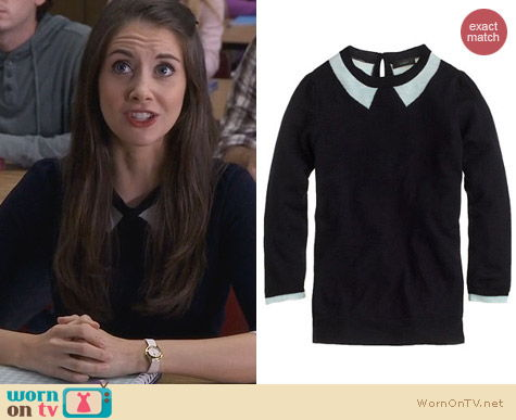 Fashion of Community: J. Crew Tippi Sweater in Trompe L'Oeil worn by Alison Brie