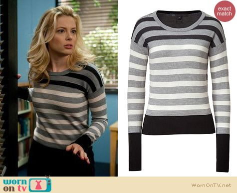 Community Fashion: Marc by Marc Jacobs Yasmin sweater worn by Britta Perry