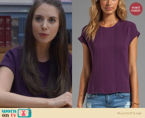 Fashion of Community: Theory Sellida Blouse worn by Alison Brie