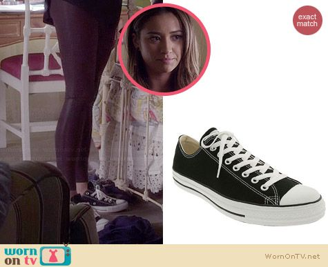 Converse Chuck Taylor Low Sneakers in Black worn by Shay Mitchell on PLL