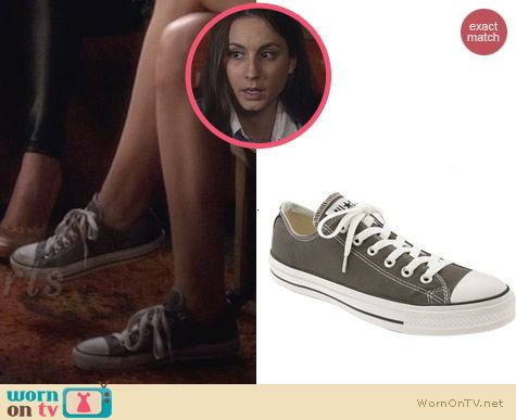 Converse Chuck Taylor Sneaners in Charcoal worn by Troian Bellisario on PLL