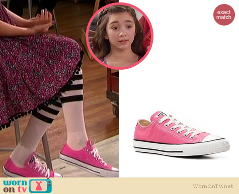 Converse Chuck Taylors in Pink worn by Rowan Blanchard on Girl Meets World