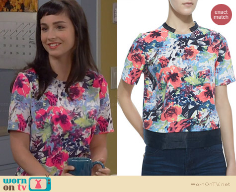 Cooper & Ella Elizabeth Floral Top worn by Molly Ephraim on Last Man Standing