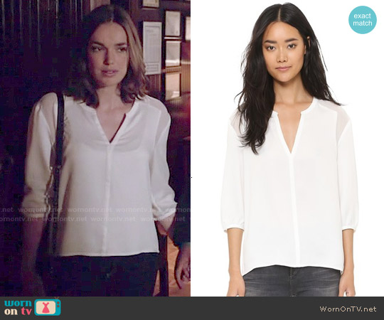 Cooper & Ella Esther Blouse worn by Elizabeth Henstridge on Agents of SHIELD