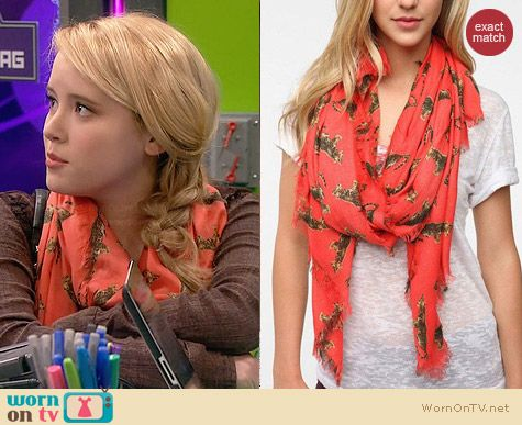 Cooperative Conversational Scarf worn by Lennox Scanlon on Melissa & Joey