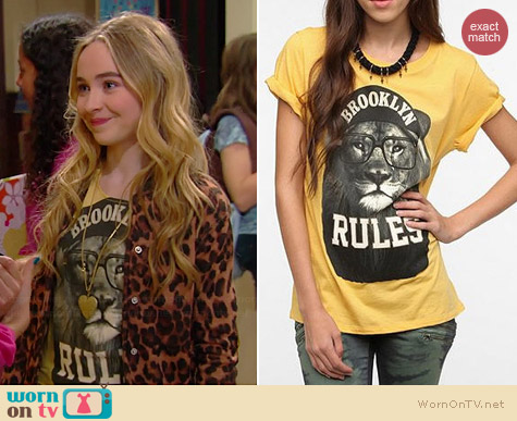 Corner Shop Brooklyn Rules Tee worn by Sabrina Carpenter on Girl Meets World