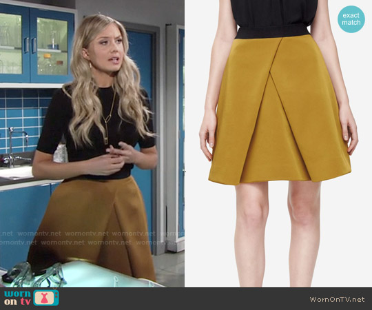 Cos Pleated A-Line Skirt worn by Melissa Ordway on The Young & the Restless