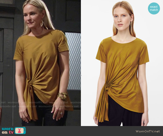 Cos Top with Front Drape Detail worn by Sharon Case on The Young & the Restless