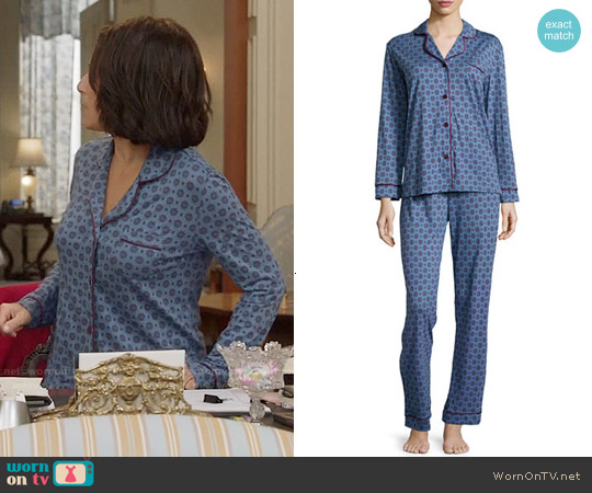 Cosabella Bella Dot-Print Long-Sleeve Pajama Set worn by Julia Louis-Dreyfus on Veep
