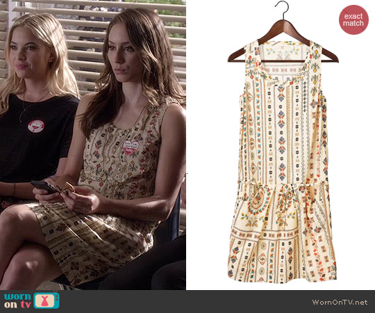 Cotelace East Caravane Dress worn by Troian Bellisario on PLL