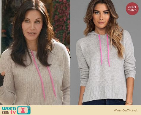 Cougar Town Fashion: Autumn Cashmere Honeycomb Stitch Hoodie worn by Courtney Cox