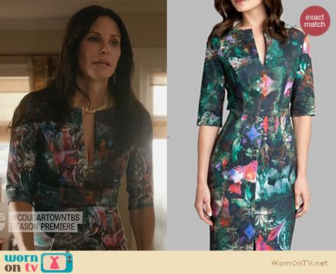 Fashion of Cougar Town: Ted Baker Iyana Dress worn by Courtney Cox