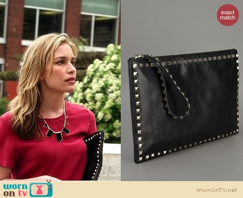 Covert Affairs Bags: Valentino Rock Stud clutch worn by Piper Perabo