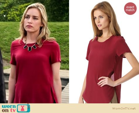 Covert Affairs Fashion: 3.1 Phillip Lim Side Seam top worn by Piper Perabo
