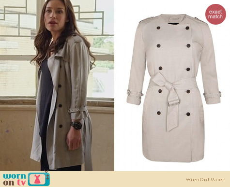 Covert Affairs Fashion: All Saints Suzette Coat worn by Piper Perabo