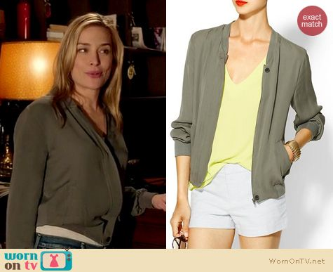 Covert Affairs Fashion: Joie Empire jacket worn by Piper Perabo