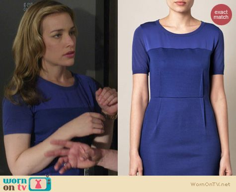 Covert Affairs Fashion: MaxMara blue tecnico dress worn by Piper Perabo