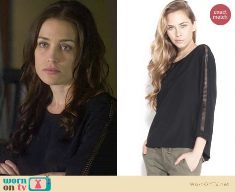 Covert Affairs Fashion: Rag & Bone Black Silk Top worn by Piper Perabo