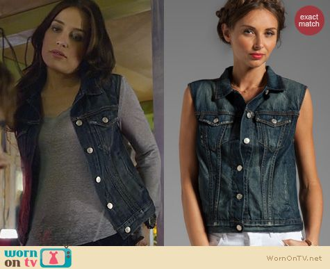 Covert Affairs Fashion: Rag & Bone Burney Denim Vest worn by Piper Perabo