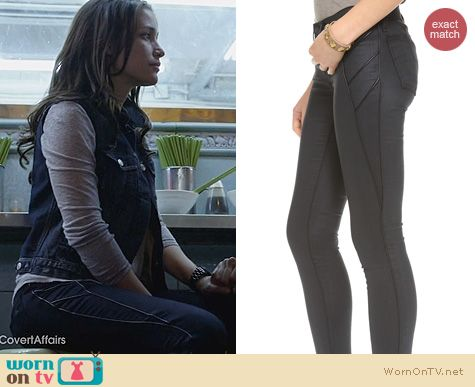 Covert Affairs Fashion: Rag & Bone The Trench Leggings worn by Piper Perabo