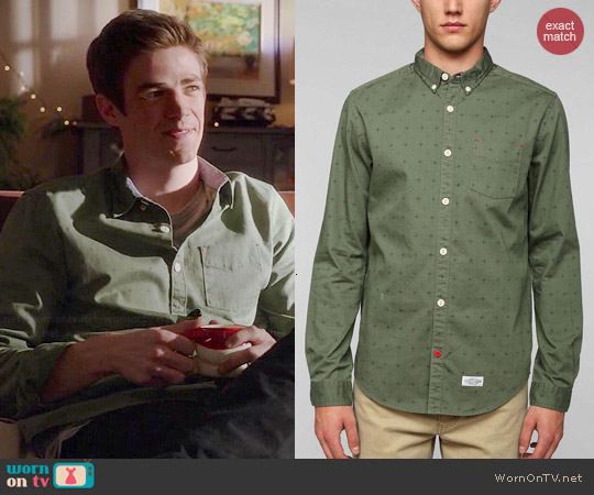 CPO Knott Multi Dot Button Down Shirt worn by Barry Allen on The Flash
