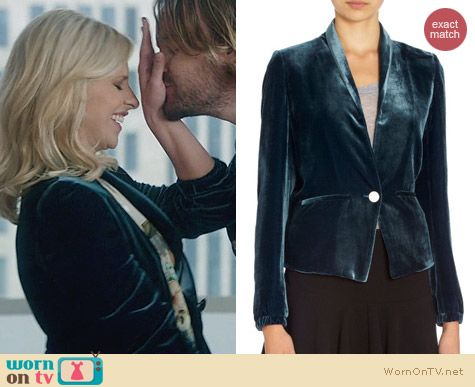 The Crazy Ones Clothes: Band of Outsiders Velvet Blazer worn by Sarah Michelle Gellar