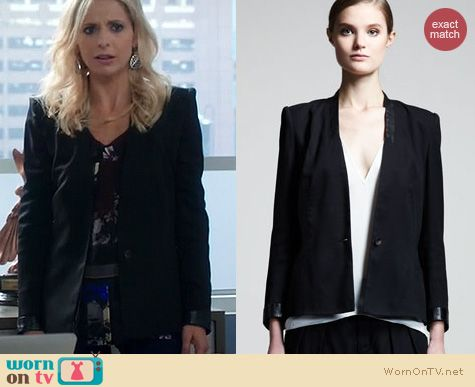 The Crazy Ones Fashion: Helmut Lang Cove Blazer worn by SMG