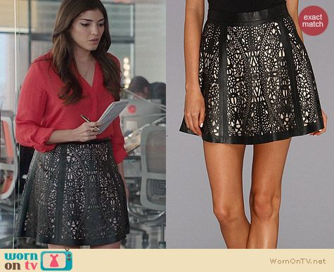 The Crazy Ones Fashion: Parker Filomena Skirt worn by Amanda Setton