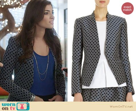 The Crazy Ones Fashion: Theory Lanai Jacket worn by Amanda Setton