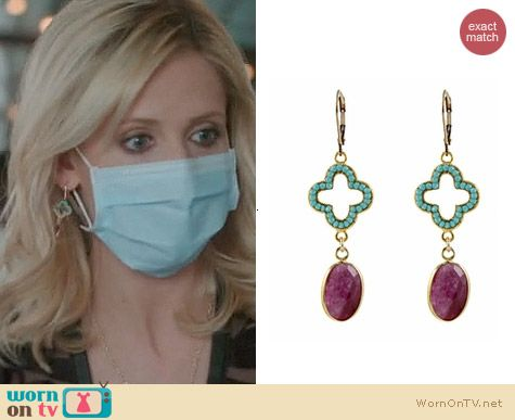 The Crazy Ones Jewellery: Peggy Li Crystal Elegance Earrings worn by Sarah Michelle Gellar