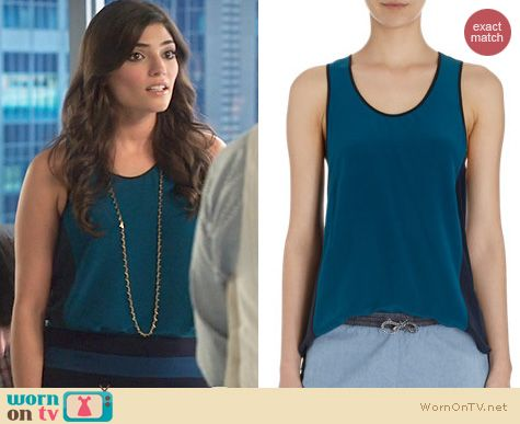The Crazy Ones Style: Jonathan Simkhai Sporty Tank worn by Amanda Setton