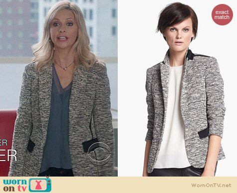 The Crazy Ones Fashion: Rag & Bone Aviator blazer worn by Sarah Michelle Gellar