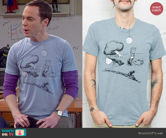 Curbside Clothing The Dreamer Tee by Justin Barker worn by Jim Parsons on The Big Bang Theory