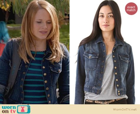 Current/Elliott The Snap Jacket worn by Katie Leclerc on Switched at Birth
