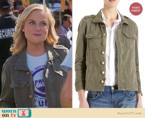 Current/Elliott Battalion Jacket worn by Amy Poehler on Parks & Rec
