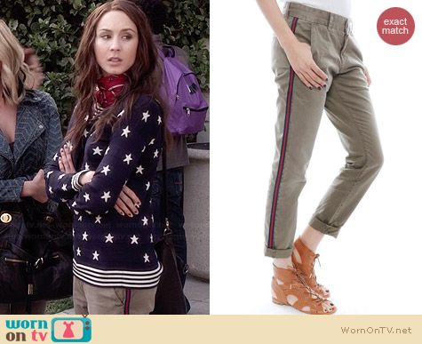 Current/Elliott Buddy Trousers worn by Troian Bellisario on PLL