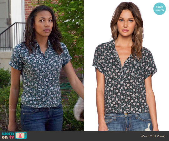 Current Elliott Emma Shirt in Juliet Floral worn by Kylie Bunbury on Under the Dome