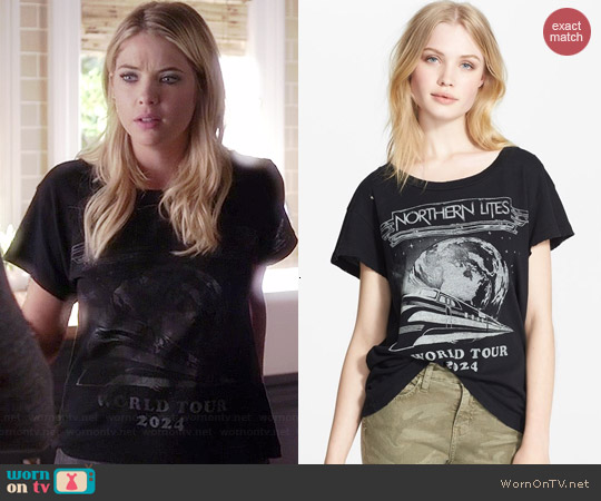 Current Elliott The Freshman Tee in Northern Lites worn by Ashley Benson on PLL