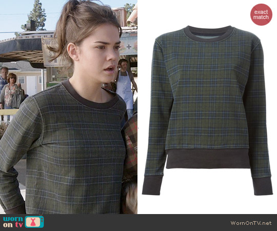Current/Elliott Highlander Sweatshirt worn by Maia Mitchell on The Fosters