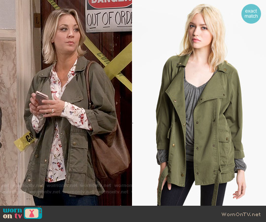 Current/Elliott Infantry Jacket worn by Kaley Cuoco on The Big Bang Theory