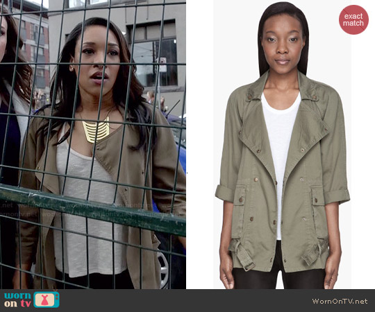 Current/Elliott Infantry Jacket worn by Candice Patton on The Flash