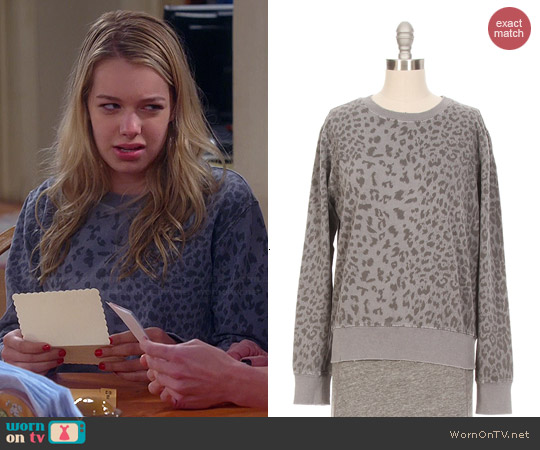 Current/Elliott Leopard Print Sweatshirt worn by Sadie Calvano on Mom