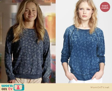 Current/Elliott The Letterman Paisley Sweatshirt worn by Hayden Panettiere on Nashville
