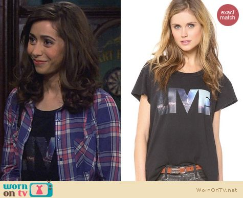 Current/Elliott The Crew Tee in Black Beauty Live worn by Cristin Milioti