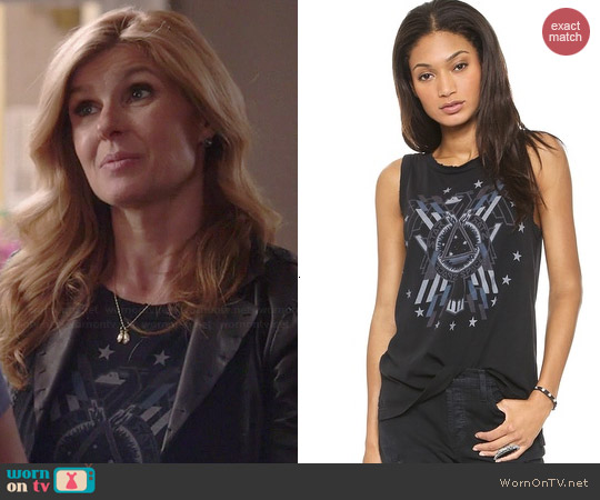 Current Elliott The Muscle Tank in Liberty Eagle worn by Connie Britton on Nashville