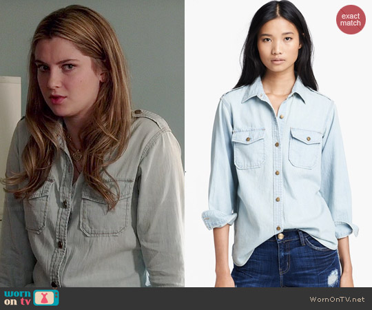 Current Elliott The Perfect Denim Shirt worn by Zoe Levin on Red Band Society